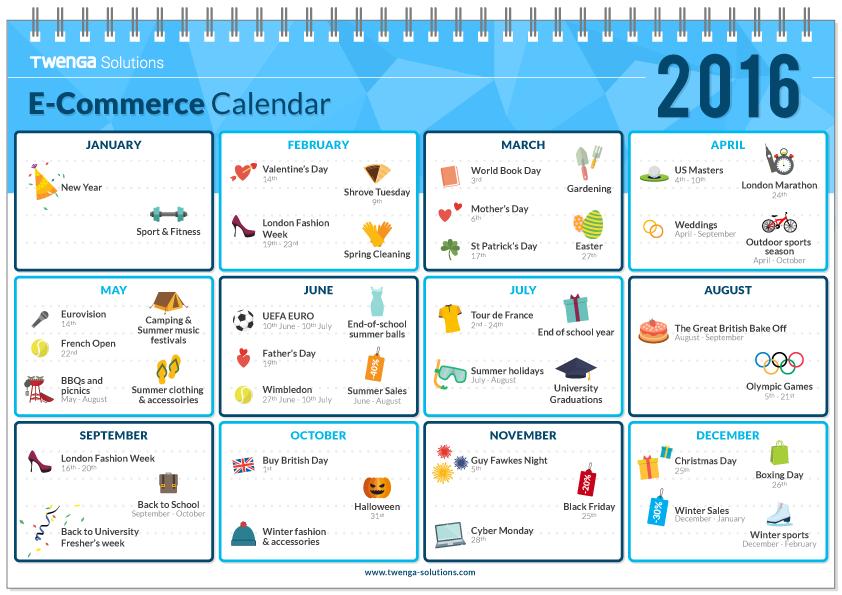 ecommerce calendar for 2016 cunningham web solutions. Black Bedroom Furniture Sets. Home Design Ideas